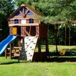 Structure de jeux pour enfants - Chalets aux Crocollines -Chalet à louer - Lac Simon, Qc